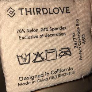 ThirdLove Intimates & Sleepwear - Thirdlove perfect Coverage nude